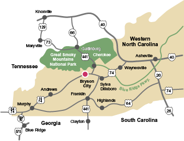 Bryson Nc Map.Directions To Deep Creek Campground In Bryson City Nc Just 3 Hours