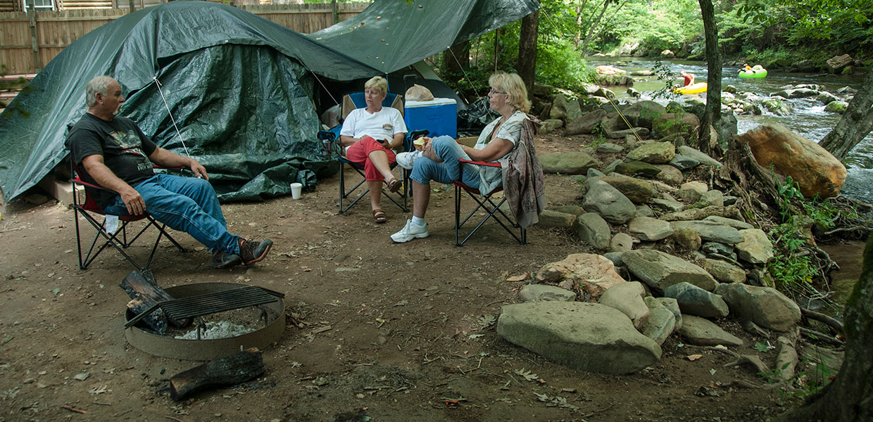 Smoky mountain family campground with tent camping rv campground