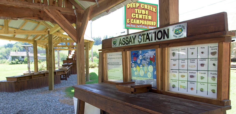 Deep Creek Tube Center Mining Company - Bryson City's only gem mine